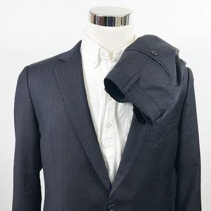 Brooks Brothers 42R Fitzgerald Suit 36 x 28 Black